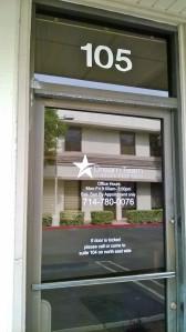 Suite 105 Front Door